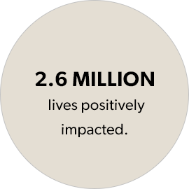 2.6 Million Lives Positively Impacted